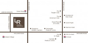 Leedon Residence Location Map
